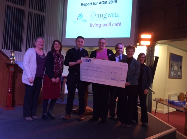 TSB Bucksburn presenting a cheque to the Project
